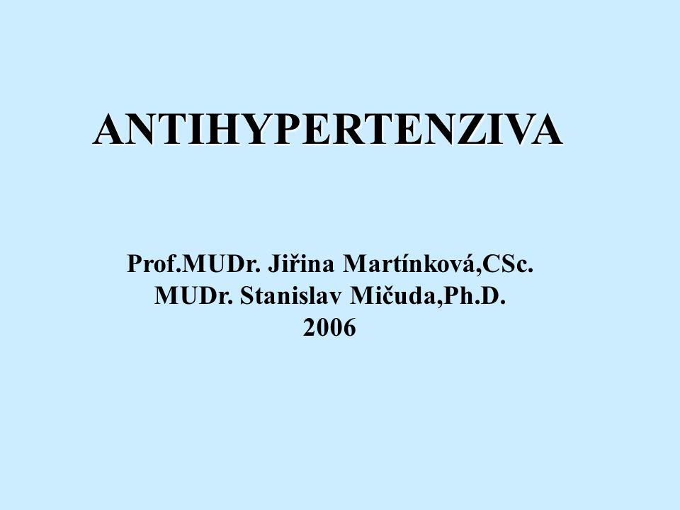 Prof.MUDr. Jiřina Martínková,CSc. MUDr. Stanislav Mičuda,Ph.D.