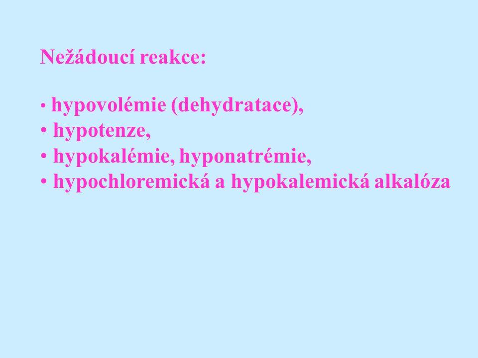 hypokalémie, hyponatrémie, hypochloremická a hypokalemická alkalóza
