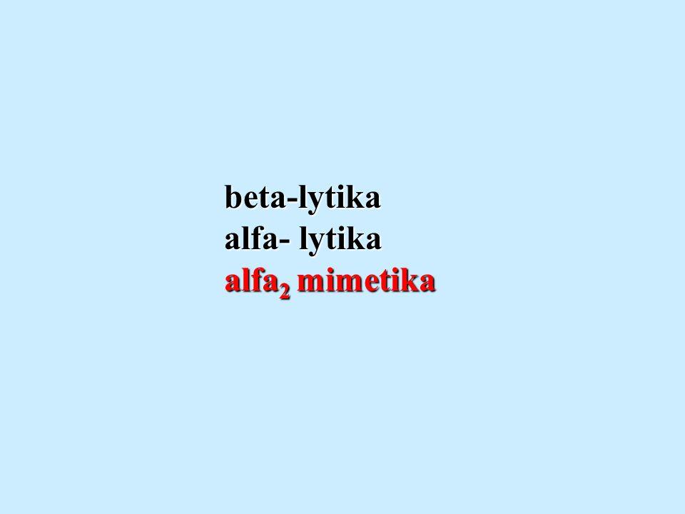 beta-lytika alfa- lytika alfa2 mimetika
