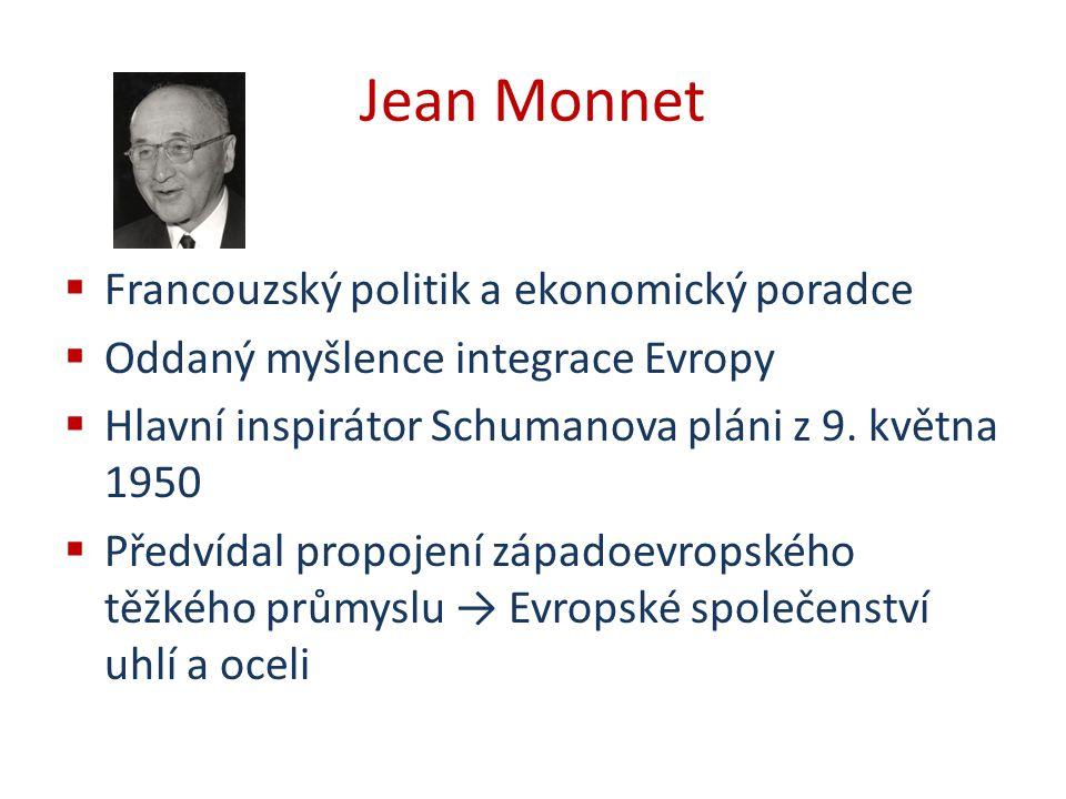Jean Monnet Francouzský politik a ekonomický poradce