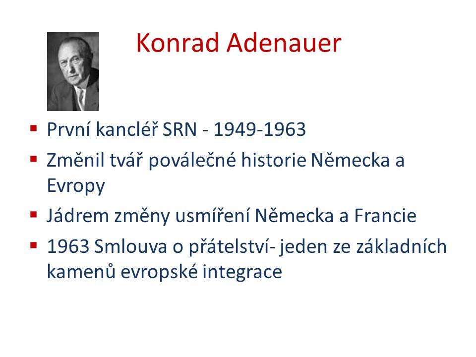 Konrad Adenauer První kancléř SRN - 1949-1963