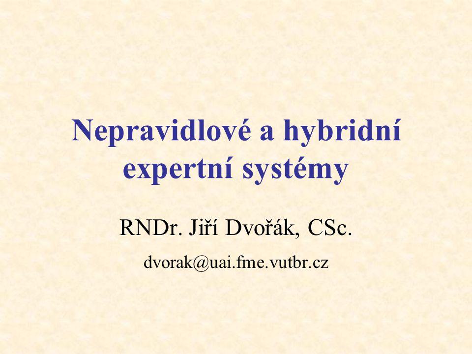 Nepravidlové a hybridní expertní systémy