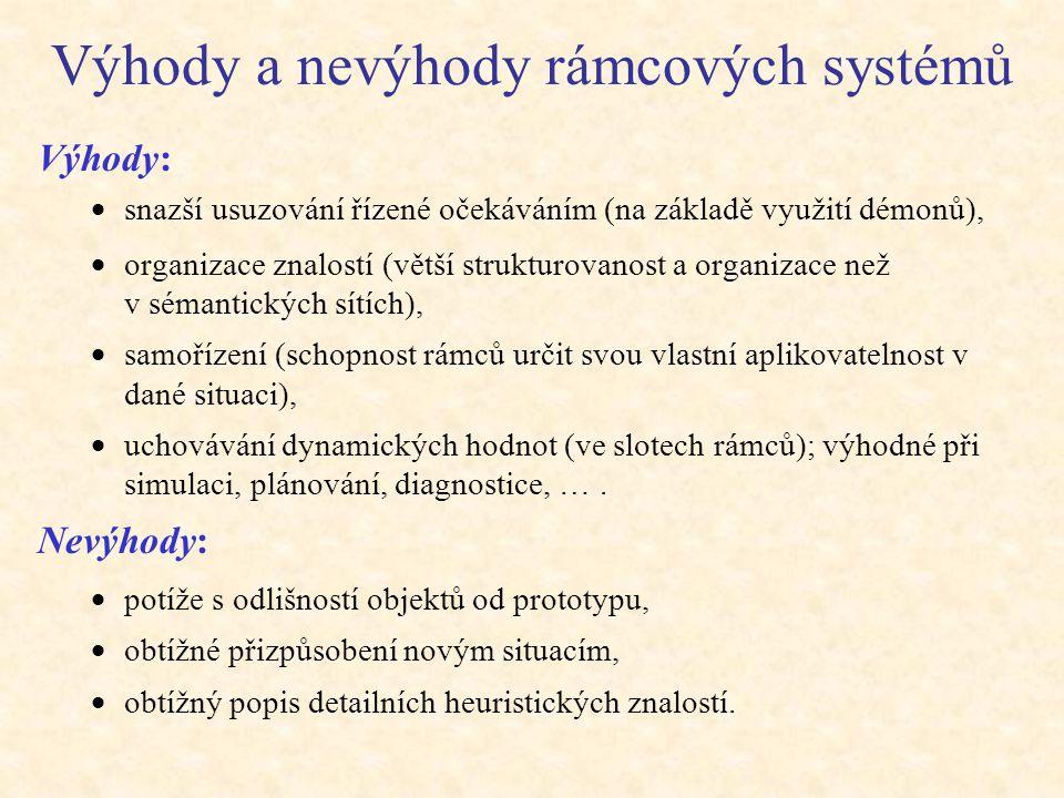 Výhody a nevýhody rámcových systémů