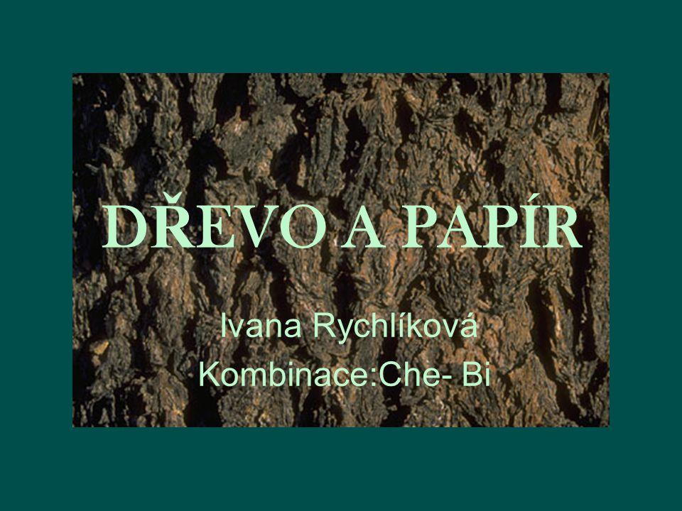DŘEVO A PAPÍR Ivana Rychlíková Kombinace:Che- Bi