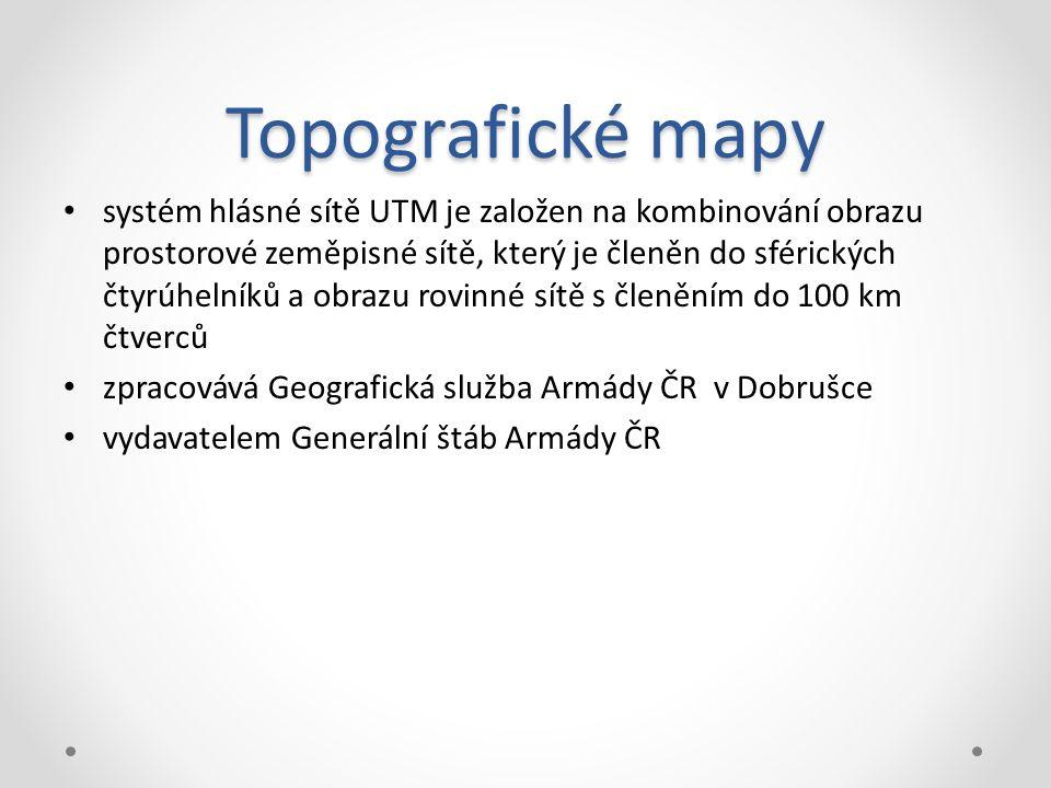 Topografické mapy