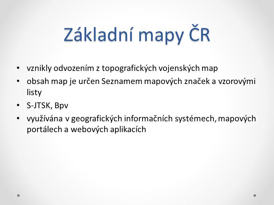 Základní mapy ČR vznikly odvozením z topografických vojenských map