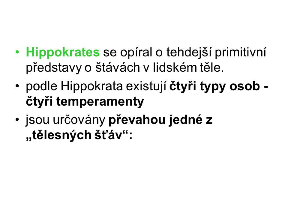 Hippokrates se opíral o tehdejší primitivní představy o štávách v lidském těle.