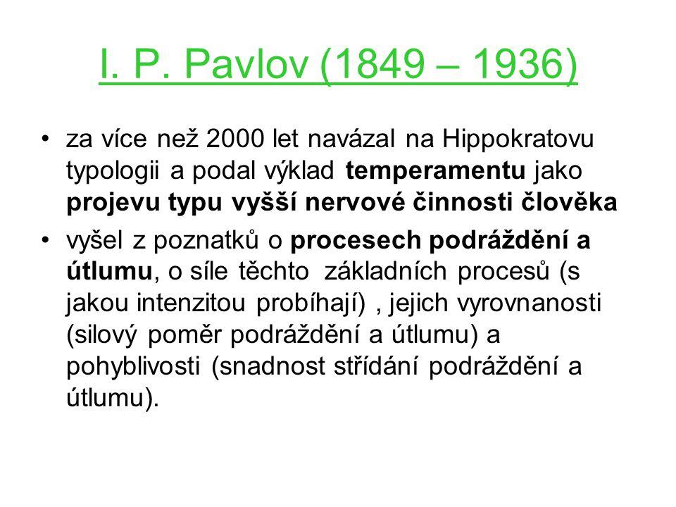 I. P. Pavlov (1849 – 1936)