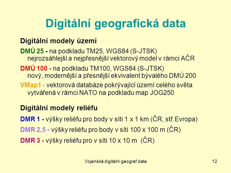 Digitální geografická data