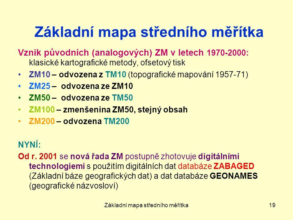Základní mapa středního měřítka