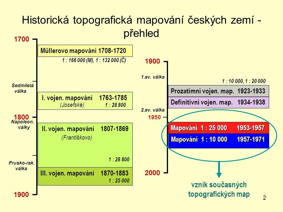 Historická topografická mapování českých zemí - přehled