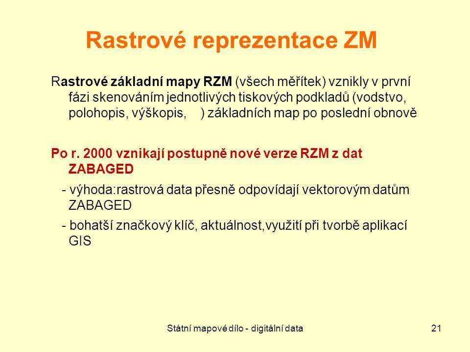 Rastrové reprezentace ZM