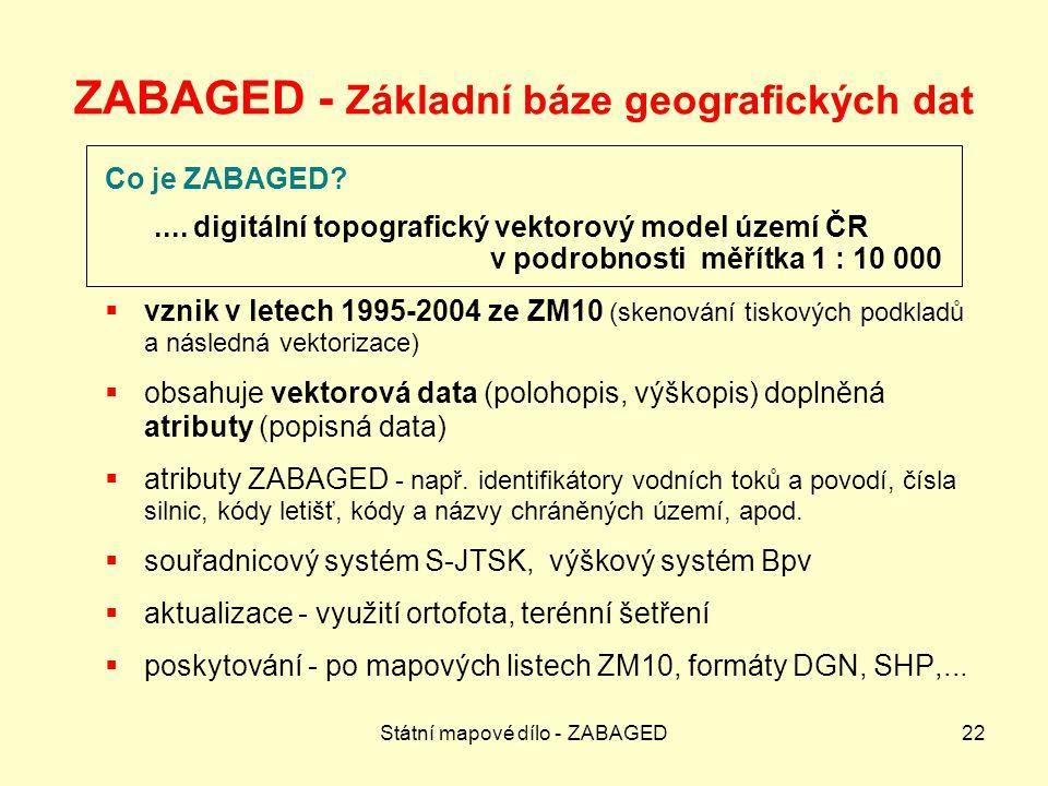 ZABAGED - Základní báze geografických dat