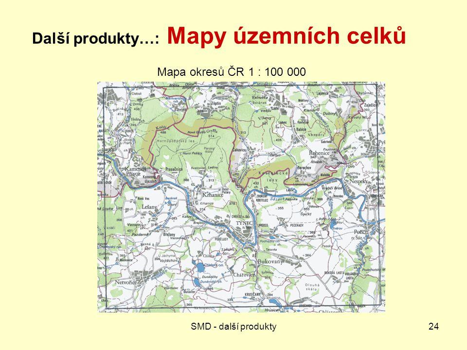 Další produkty…: Mapy územních celků
