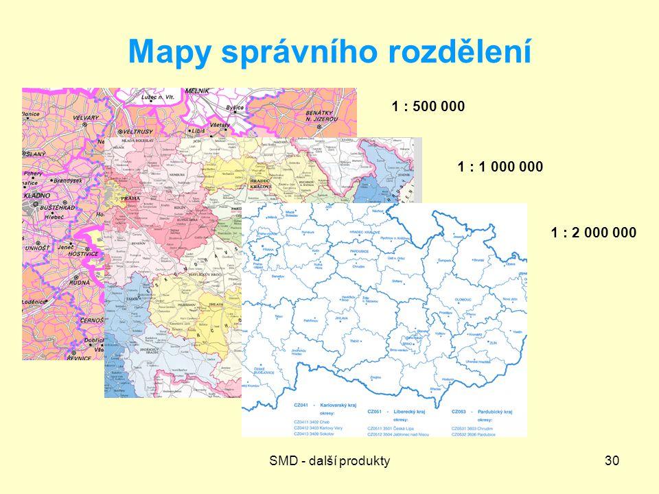 Mapy správního rozdělení