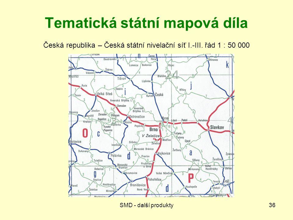 Tematická státní mapová díla