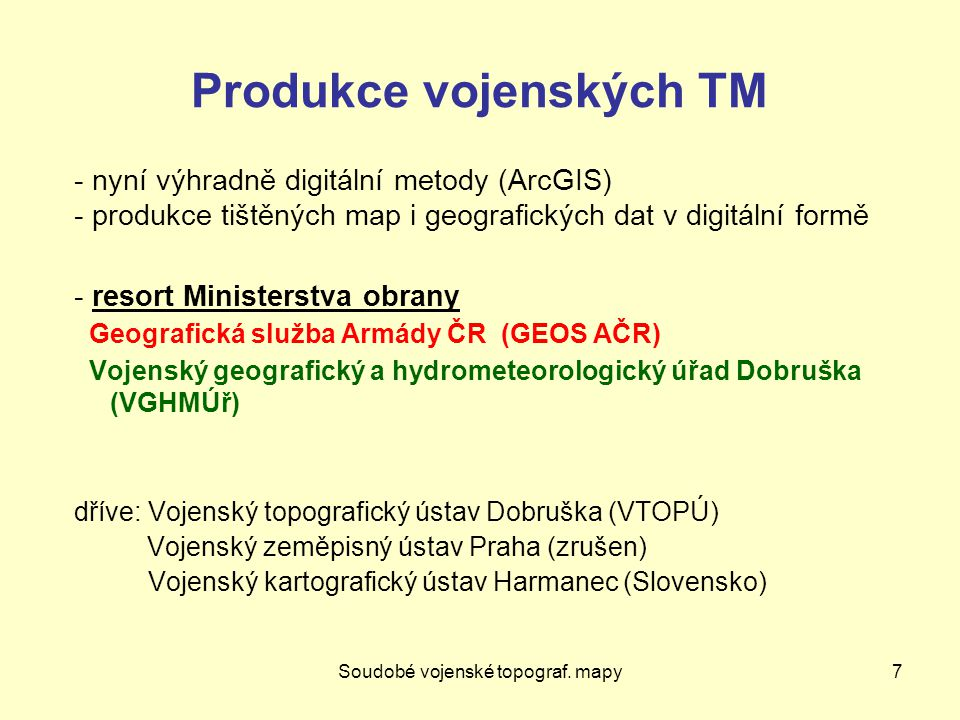 Produkce vojenských TM