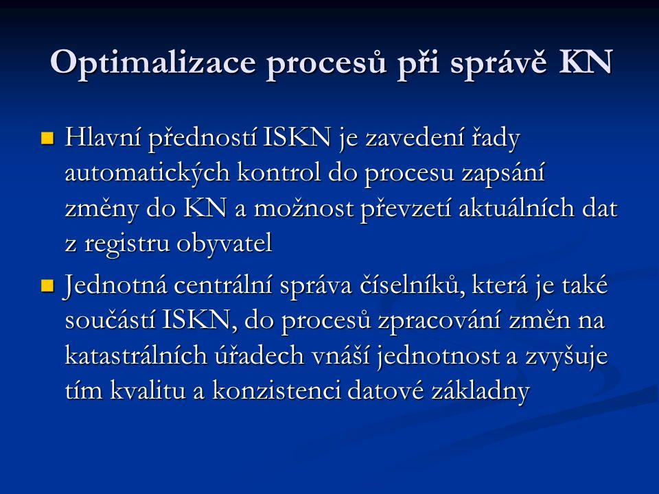 Optimalizace procesů při správě KN