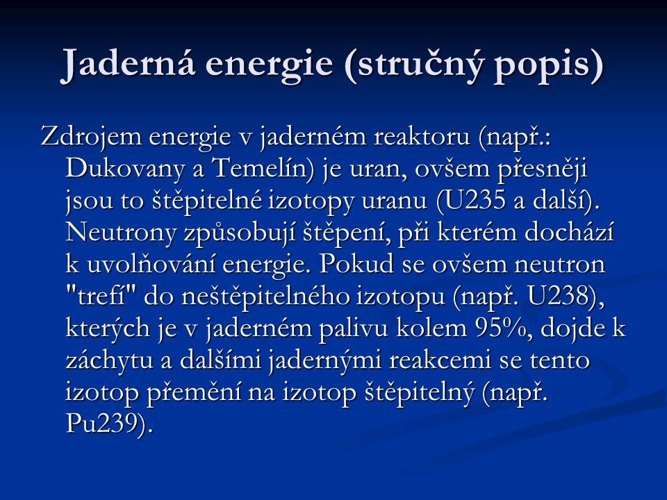 Jaderná energie (stručný popis)