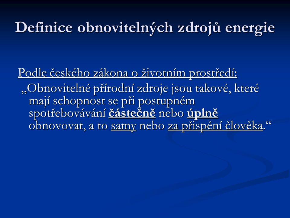 Definice obnovitelných zdrojů energie