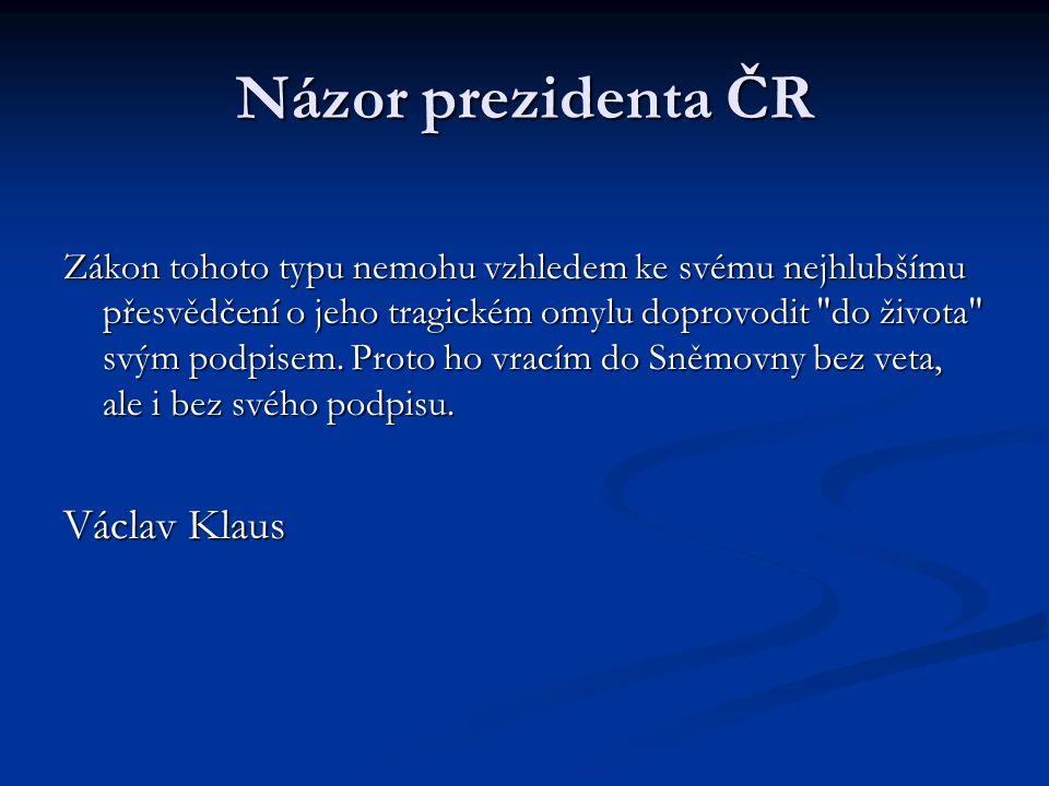 Názor prezidenta ČR Václav Klaus