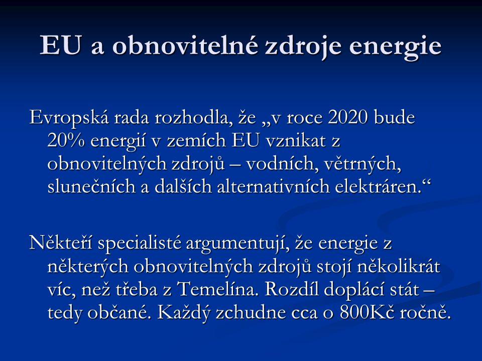 EU a obnovitelné zdroje energie