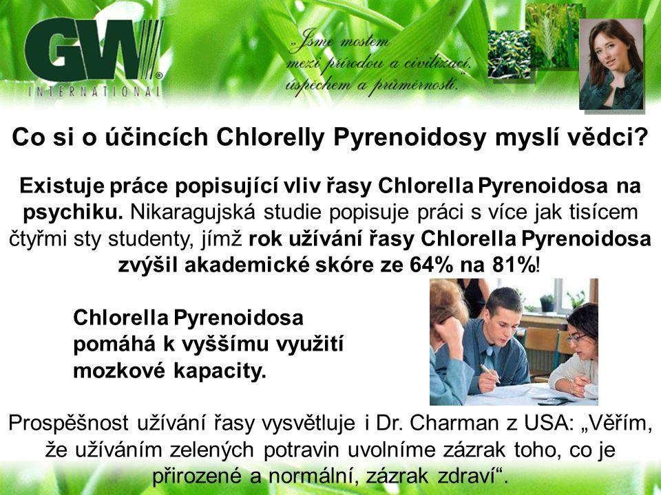 Co si o účincích Chlorelly Pyrenoidosy myslí vědci