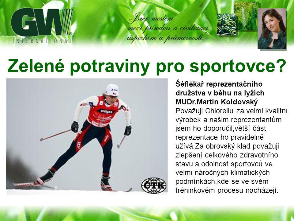 Zelené potraviny pro sportovce