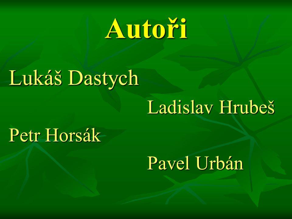 Autoři Lukáš Dastych Ladislav Hrubeš Petr Horsák Pavel Urbán