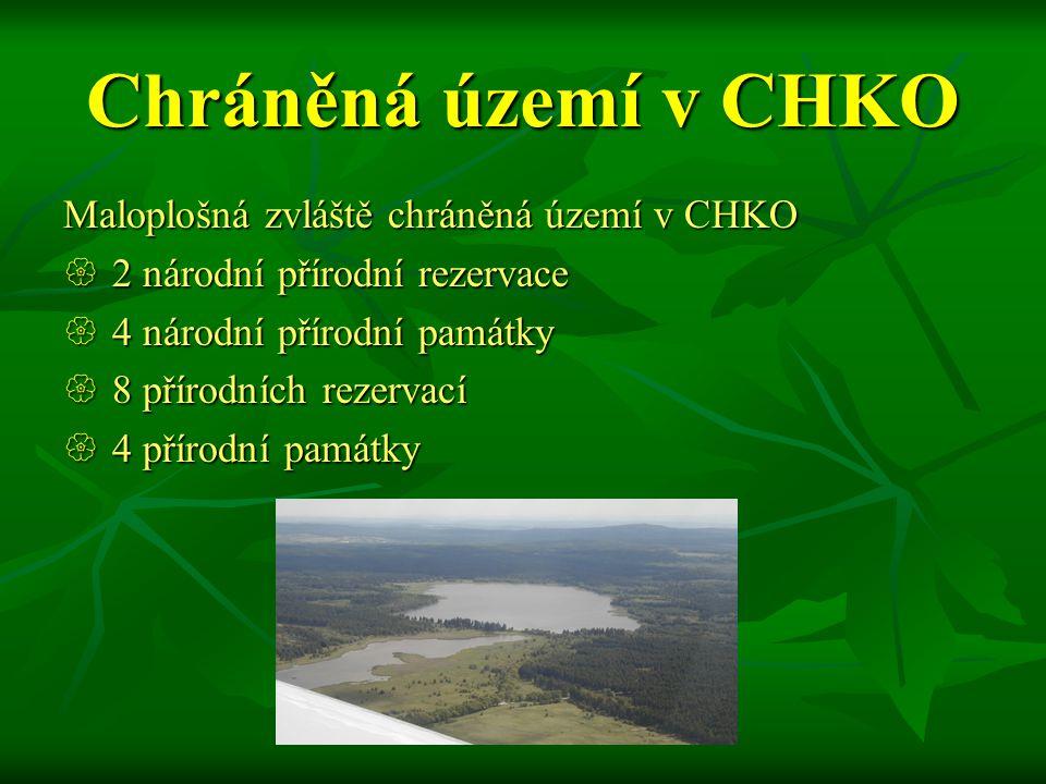 Chráněná území v CHKO Maloplošná zvláště chráněná území v CHKO