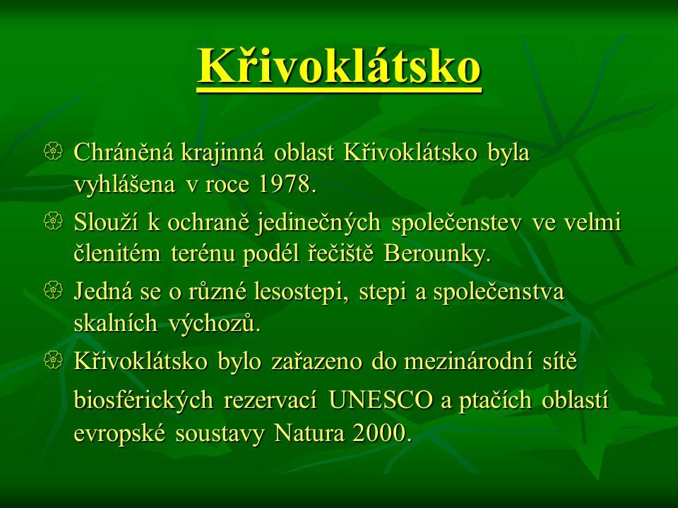Křivoklátsko Chráněná krajinná oblast Křivoklátsko byla vyhlášena v roce 1978.