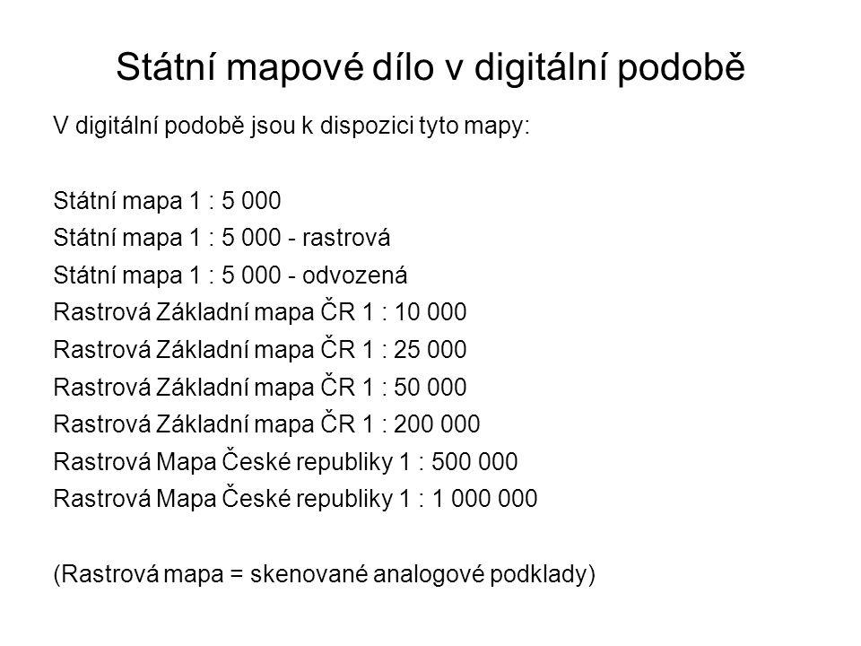 Státní mapové dílo v digitální podobě
