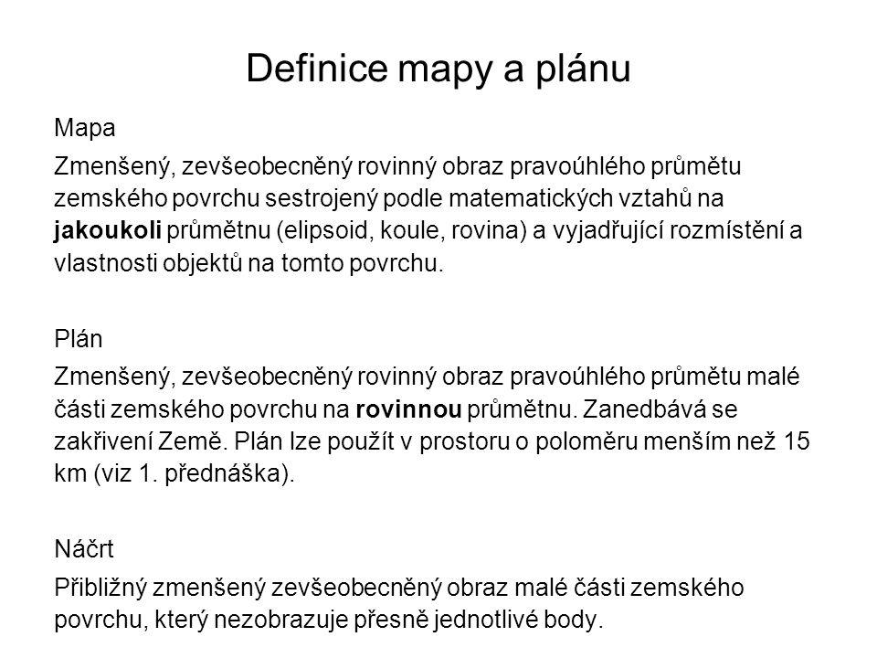 Definice mapy a plánu Mapa