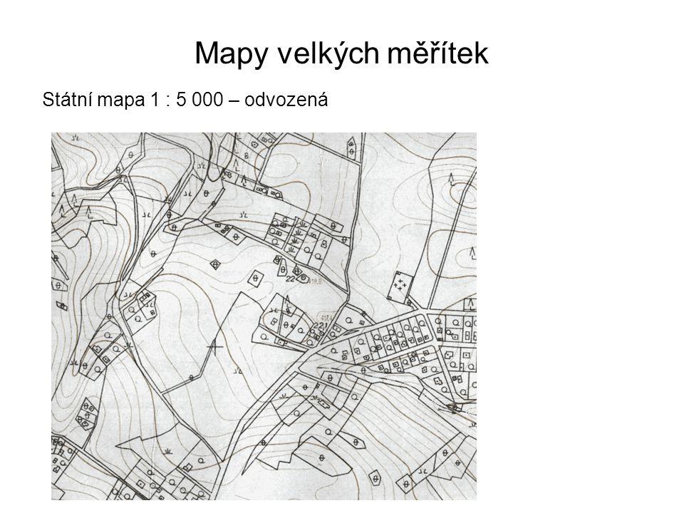 Mapy velkých měřítek Státní mapa 1 : 5 000 – odvozená 24