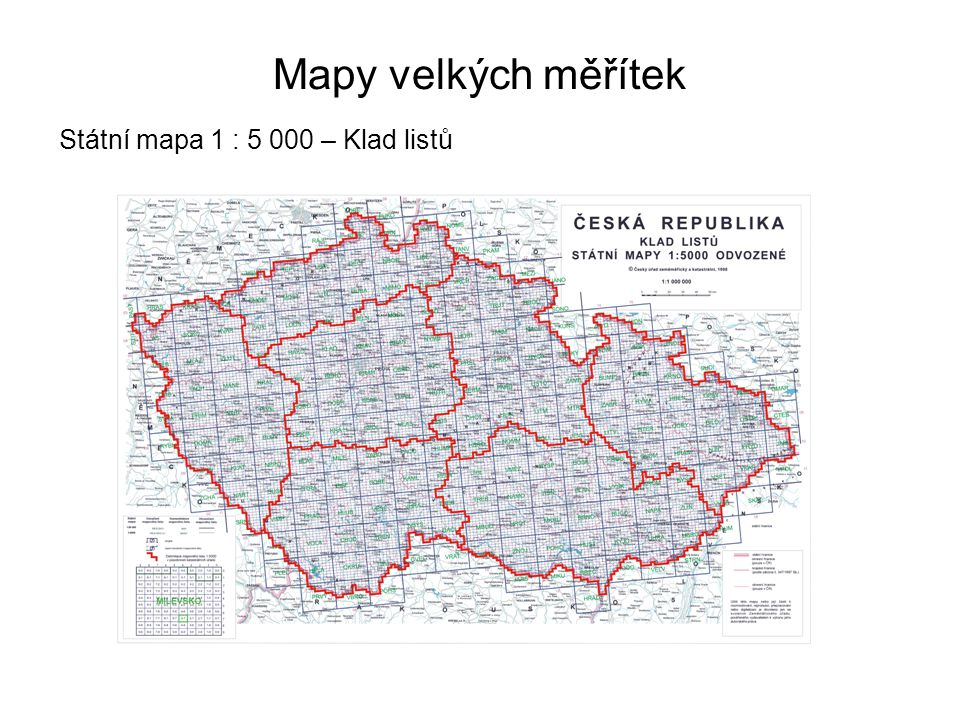 Mapy velkých měřítek Státní mapa 1 : 5 000 – Klad listů 27