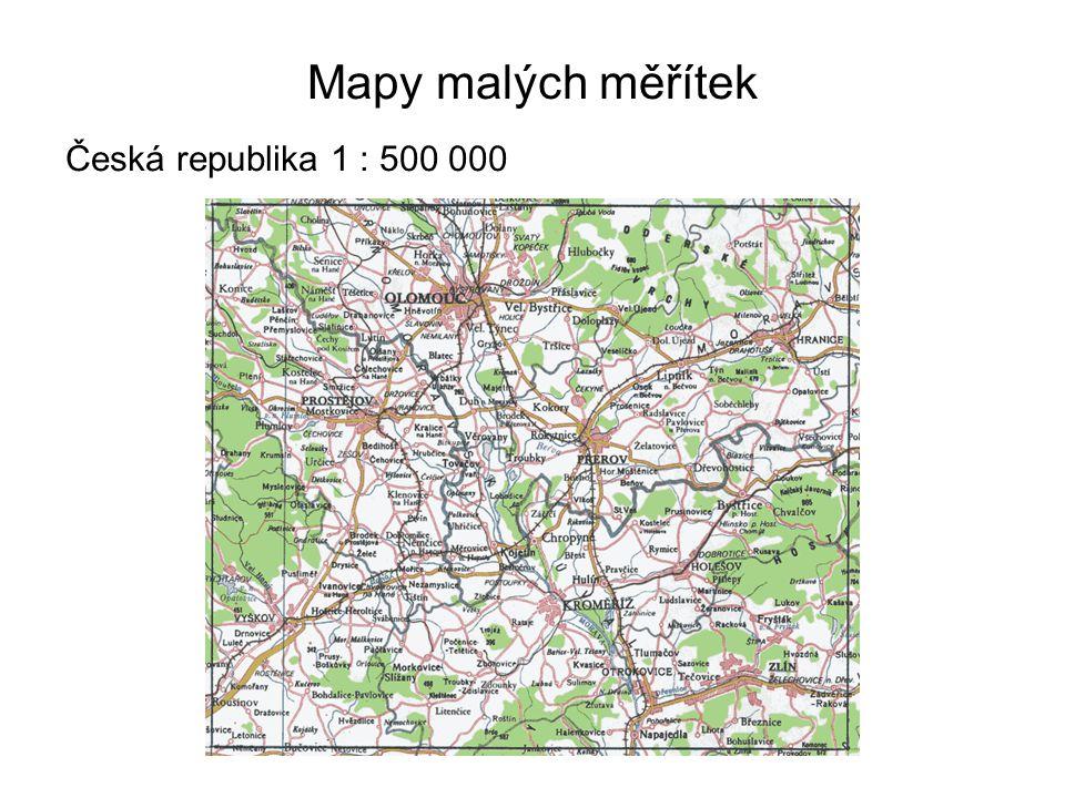 Mapy malých měřítek Česká republika 1 : 500 000 43
