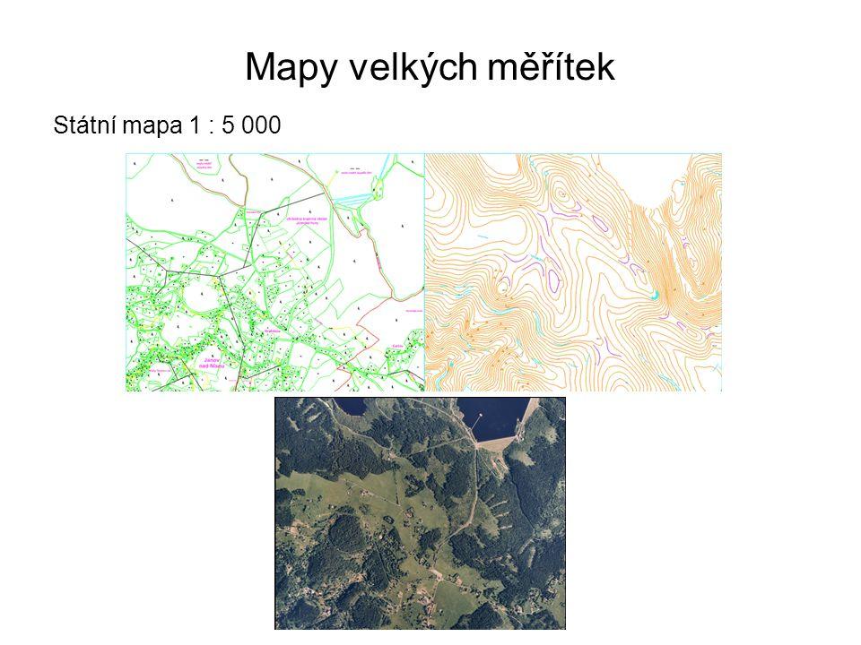 Mapy velkých měřítek Státní mapa 1 : 5 000 40