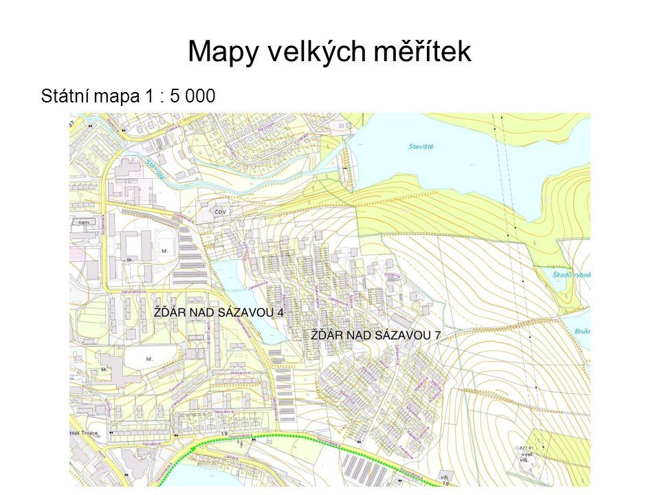 Mapy velkých měřítek Státní mapa 1 : 5 000 41