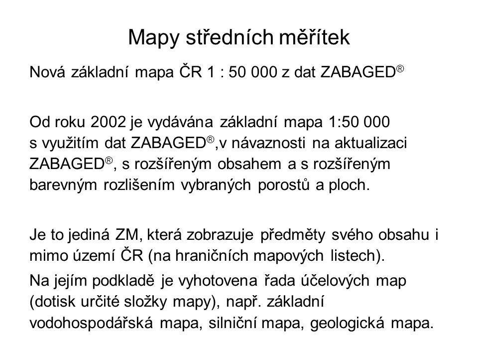Mapy středních měřítek
