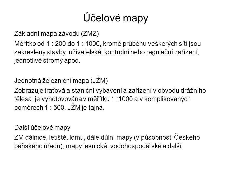 Účelové mapy Základní mapa závodu (ZMZ)