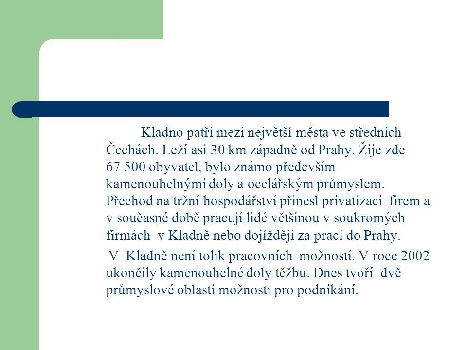 Kladno patří mezi největší města ve středních Čechách