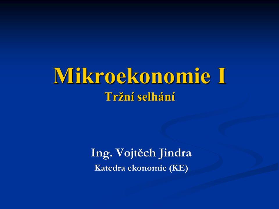 Mikroekonomie I Tržní selhání