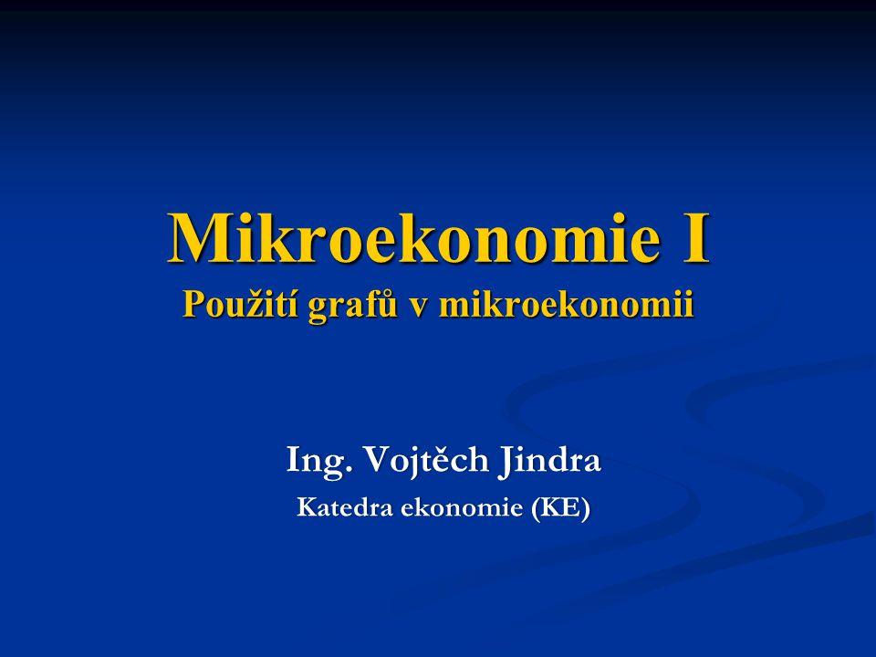 Mikroekonomie I Použití grafů v mikroekonomii