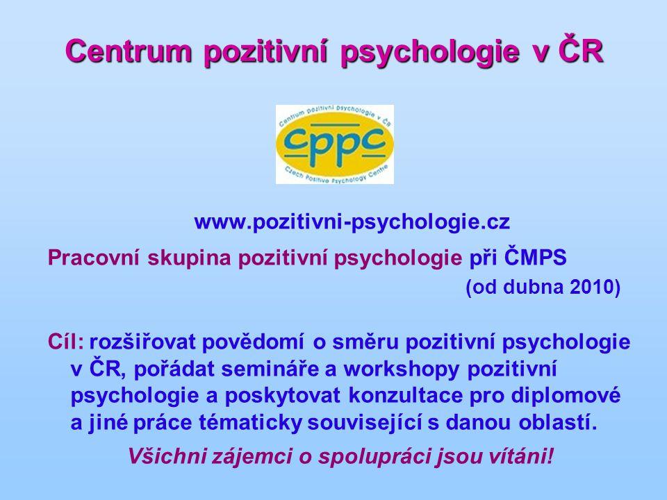 Centrum pozitivní psychologie v ČR