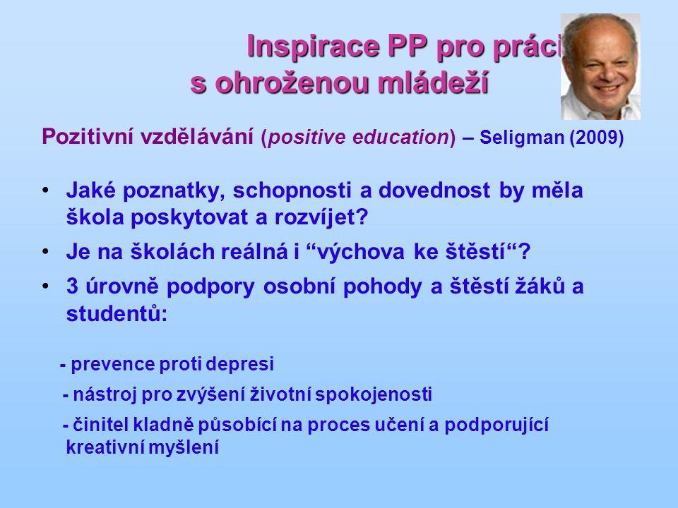Inspirace PP pro práci s ohroženou mládeží