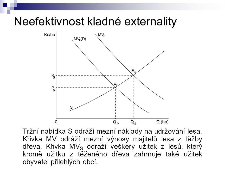Neefektivnost kladné externality
