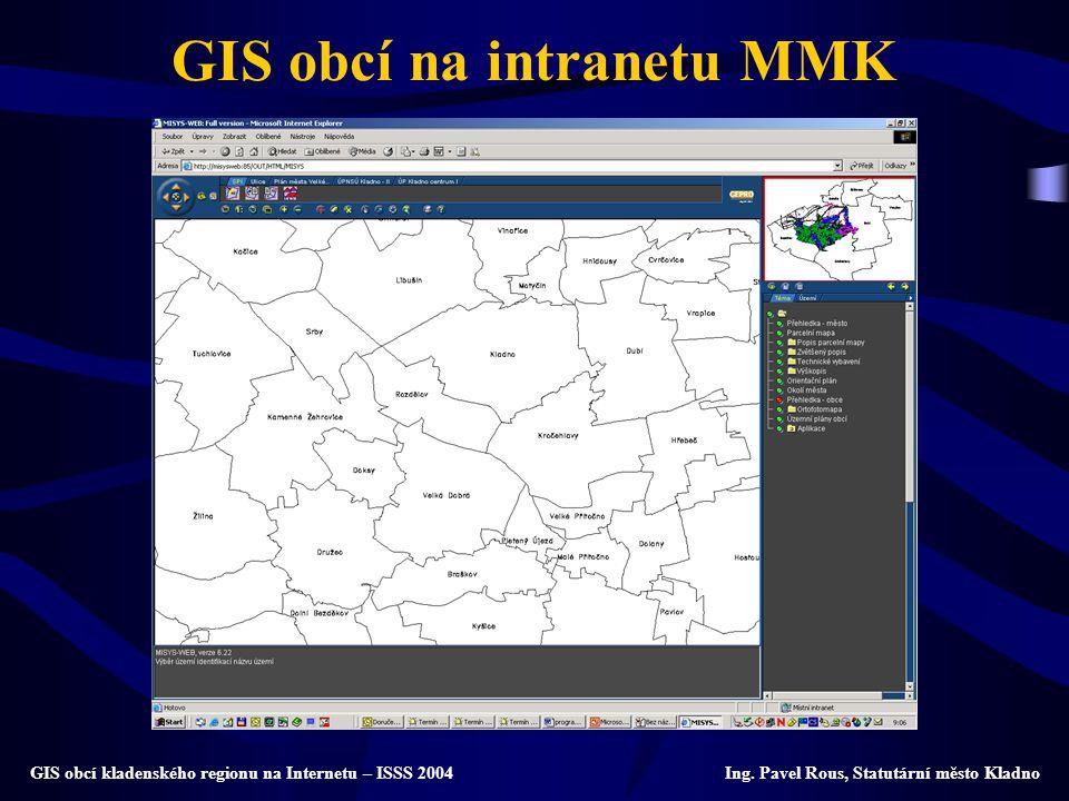 GIS obcí na intranetu MMK