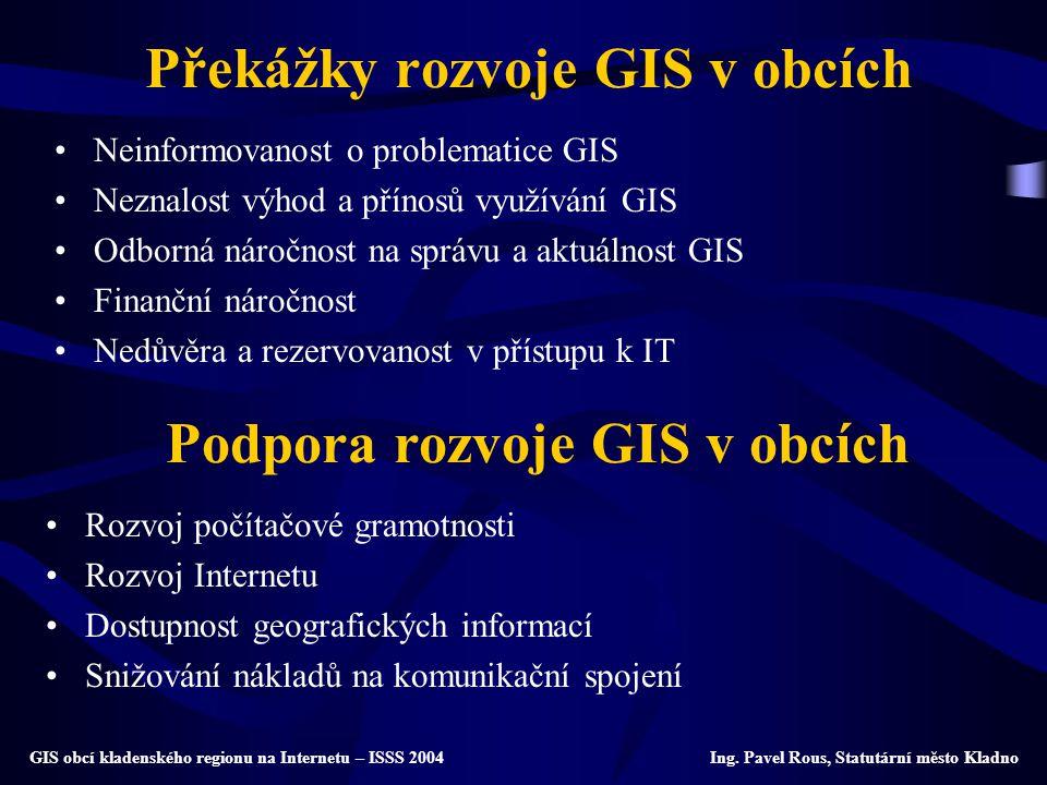 Překážky rozvoje GIS v obcích