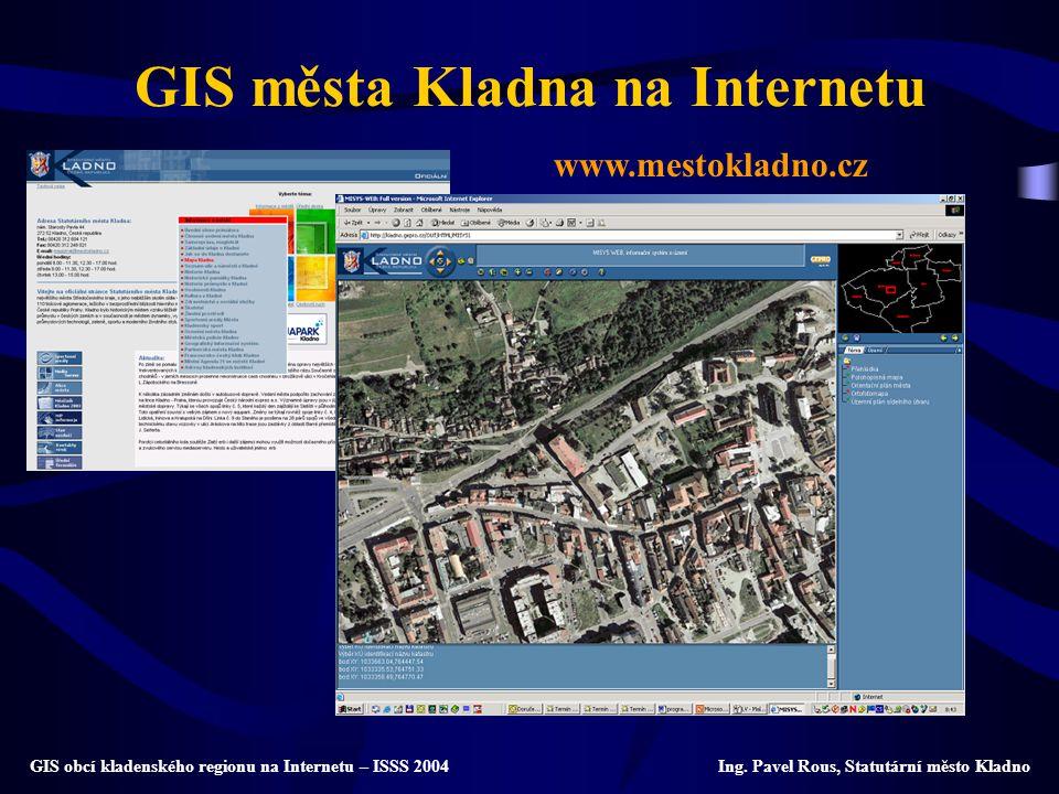 GIS města Kladna na Internetu