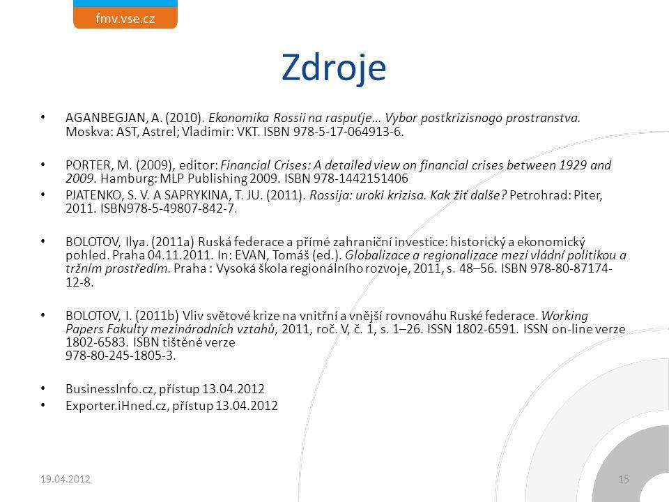 Děkuji za pozornost! Otázky    19.04.2012